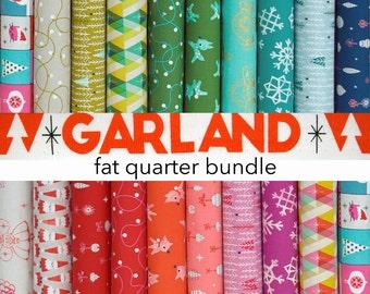 Garland Fat Quarter Fabric Bundle - Garland Collection by Cotton + Steel Fabrics - 19 piece fat quarter bundle