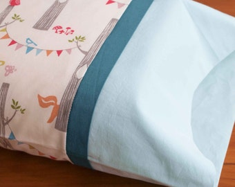 Toddler Pillowcase; Organic Cotton Baby Pillow Case; Travel Pillow Case; Custom Stitched Toddler Pillow Case; Custom Toddler Nursery Bedding