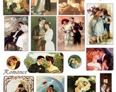 Romantic couples vintage romance images Digital Download Collage Sheet GreatMusings No. 238
