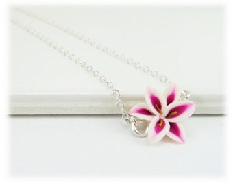 Tiny Stargazer Lily Necklace - Stargazer Lily Jewelry