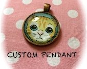 Custom Pet Pendant - Pet Portrait - Cute Pet Jewelry - Pet Lover Gifts - Pet Necklace