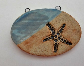 Ceramic Starfish on the Beach Pendant