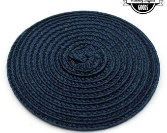 1 - Navy Blue - Straw - Fascinator - Hat Base - Hat Disk - Hat Foundation - Millinery