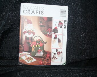 Vintage McCall's 8328 Christmas Crafts Sewing Pattern SEWBUSY12