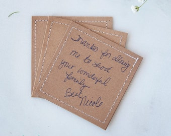 Pack of 50: Stitched Kraft Card