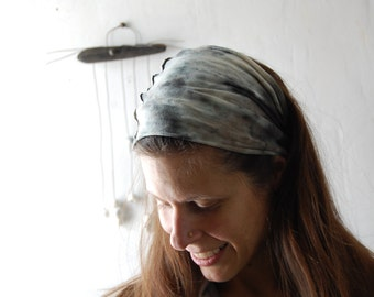 DRIFTER hand dyed organic cotton hemp head band hair wrap