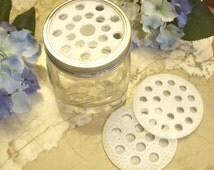 FLOWER FROG 3 pc set Fits Large Mouth Mason Jars, Environmental Friendly PLA, Flower Arranging, Rustic, House, Wedding, Cut Flower, by Lynn