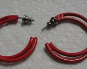 Metal Double Hoop Pierced Earrings