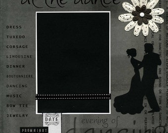 Prom Night - At The Dance - Premade Scrapbook Page