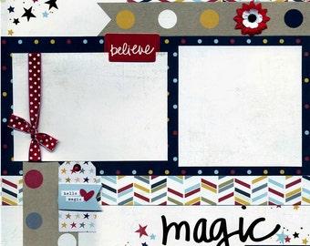 Magic Memories - Premade Scrapbook Page