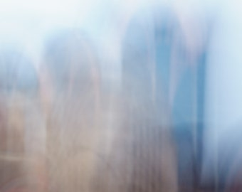 Abstract City Photography - Abstract Architecture Photography - Urban Photography - Abstract Urban Art - Large Blue Abstract Art - London