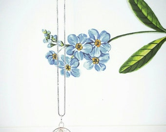 Gleymmerei - Forget me not Icelandic filigree silver necklace