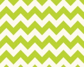 Sale fabric, Green fabric, Fabric by the yard, 6 Dollars/yard Chevron fabric, Lime Green Med Chevron, Riley Blake, Choose your cut