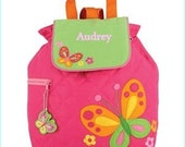 Personalized Butterfly Backpack, School Bookbag, Toddler Backpack, Diaper Bag, Boys Monogramed Backpack, Cute Girl Boy Backpack,School Bag