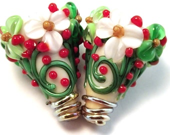 Evergreen Ivory Matching Cones