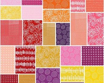 "SQ9 Karen Lewis Blueberry Park Bright Precut 5"" Charm Pack Fabric Quilting Cotton Squares Robert Kaufman CHS-409-42"