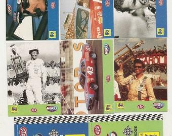 24 Vintage NASCAR TRADING CARDS ,waltrip,petty,earnhardt,gordon,marlin,jarrett,Hamilton,Stricklin,musgrave,benson,rudd,martin,labonte,burton