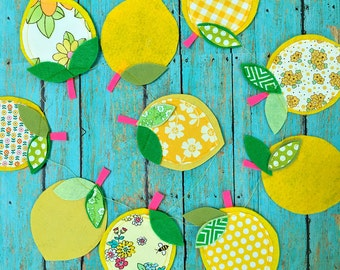 Lemon Line Up -- Sweet & Yummy Bunting, Garland