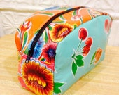 Love Shine Patchwork Oil Cloth Dopp Kit, Toiletry bag, Cosmetic Case