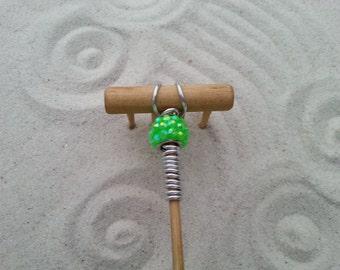 Mini Tabletop Zen Garden Rake - Minted Metal