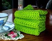Crochet Cotton Washcloths Dishcloths Handmade Crochet Cotton Wash Cloths Dish Cloths Green Dish Rag