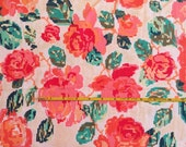 NEW Art Gallery Flowered Engrams Delight on cotton Lycra  knit fabric 1 yard