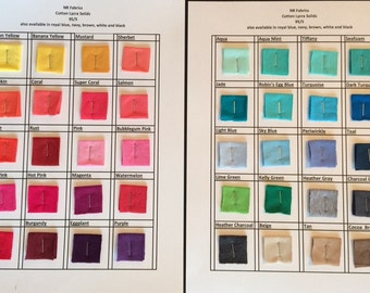 """Cotton Lycra solid knit fabric 1 yard 58"""" wide. 47 colors available"""