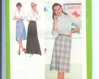 Simplicity Misses  Skirt in Three Lengths Vintage Sewing Pattern 9070  Size 12 Waist 26 1/2