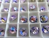 12 Violet Glacier Blue Swarovski Crystal Chaton  Stone 1088 39ss 8mm