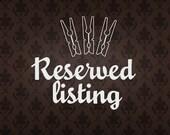 reserved for Kasia & Riyadh
