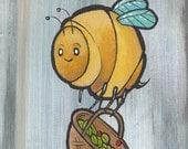 Bee-Have   5x7 Acrylic Original