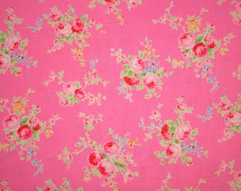 SALE Pink Antique Princess Rose Bloom 31130 by Lecien Fabrics Flower Sugar Clearance