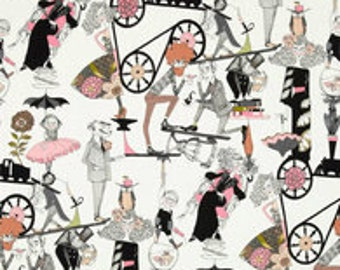 A Ghastlie Gallery End- Natural-Halloween Fabric- Alexander Henry- Fabric by the Yard-Cotton Fabric-Fabric, Quilt.