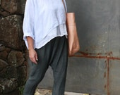Linen Drop Crotch Pants Made to Order