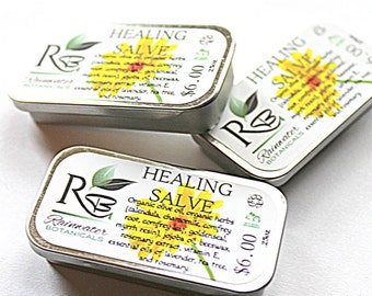 Herbal Healing Salve for Natural Healing .25oz slide tin