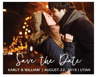 Save the Date template, DIY printable | print your own save the date, digital save the date