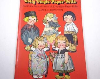 Vintage Uncut Dolly Dingle Paper Dolls Book for Children Grace G. Drayton
