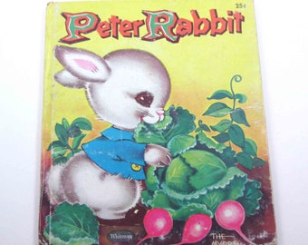 Peter Rabbit Vintage 1950s Children's Book by Whitman Illustrated by Jack and Louise Myers