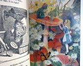 Alice's Adventures in Wonderland AND Through The Looking Glass LEWIS CARROLL 89 Illustrations and 4 Color Plates Vintage Edition