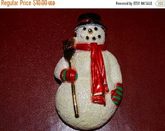 Valentines Day Sale Snowman Pin, Brooch, Top Hat, Frosty, Craft Pin, North Star, Christmas Eve, Winter Coat Pin, Lot #45