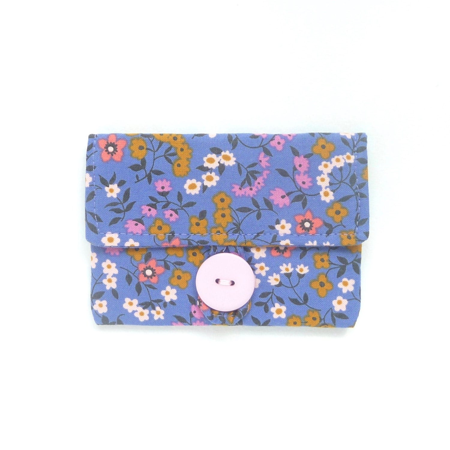 periwinkle credit card pouch. fabric women card holder. purple ...
