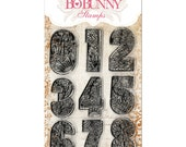 Bo Bunny Clear Acrylic Countdown Number Stamps