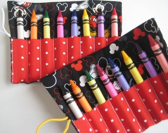 Crayon Roll Mickey Mouse Includes 8 Crayons
