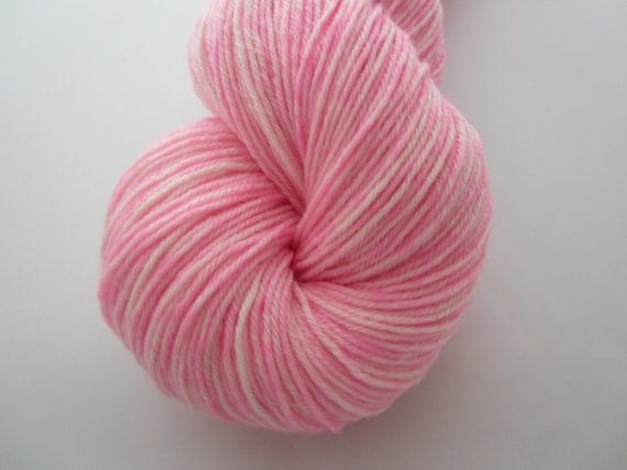 Cotton Candy - Dyed to Order - Hand Dyed - Merino Wool Yarn - Fingering Weight