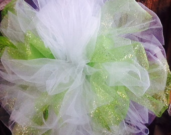 Beautiful Christmas TREE TOPPER BOW with streamers for medium to large tree