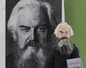 Robertson Davies Author Writer Doll Miniature Literary Art