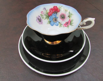 VINTAGE - Royal Albert Milady TeaCup and Saucer Trio