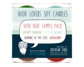 BOOK NERD - Tea Light Sample Pack - Book Lovers' Scented Soy Candles