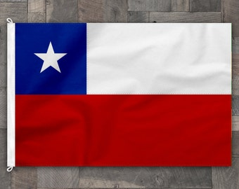 100% Cotton, Stitched Design, Flag of Chile, Made in USA