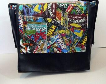 Marvel Comics Vinyl Messenger Bag